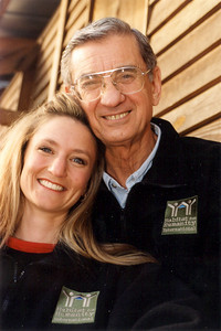 2000 - Millard Fuller, Founder and President of  Habitat for Humanity International and his daughter Faith Fuller, Senior Producer with Habitat for Humanity International.