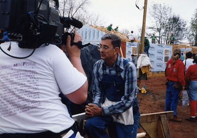 1993 - Millard Fuller interviewed during 20/20,000 where 20 homes were built in one week on Tom Hall Circle in Americus, GA. lcf