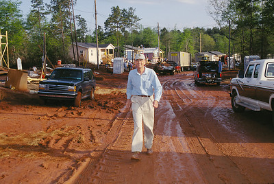 Millard Fuller at the Easter Morning build site. (Easter Morning Build 1998)