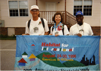 1996 - Habitat's 20th Anniversary nostalgic walk from Americus to Atlanta (37th wedding anniversary for Linda and Millard). lcf