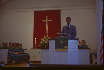 78 09 Millard Fuller preaching at Lanett Congregational Church in Lanett, AL - the church he grew up in. lcf