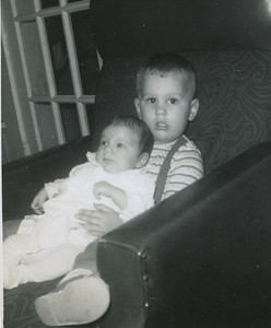 Chris Fuller holding baby sister Estin Kimberly (Kim), born October 21, 1962 in Montgomery, AL