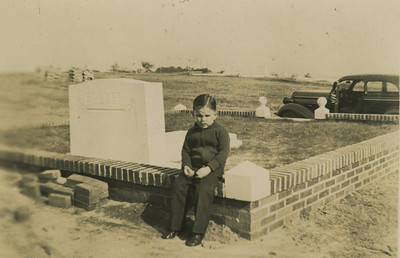 1938 - Millard at Mother's grave site in Lanett, AL