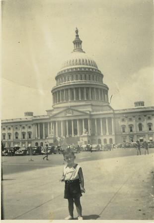 1938 - Millard visits Washington, DC with parents.