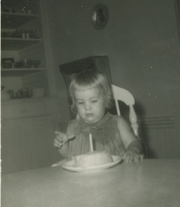 Kim, first birthday