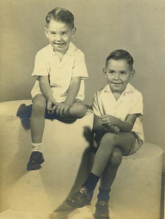 Millard's half-brothers, L-R: Doyle & Nick