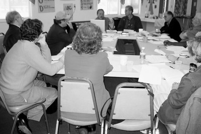 "05 04-16 First board meeting held at Koinonia. Name of organization at beginning was ""Building Habitat"", soon changed to ""Fuller Center for Housing"" due to legal threat by HFHI. lcf"