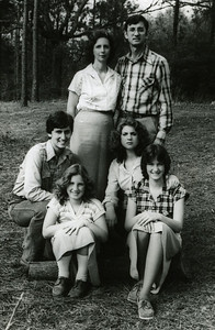 1980 Fuller Family - First Row L-R: Chris, Georgia, Kim and Faith; Back Row: Linda and Millard