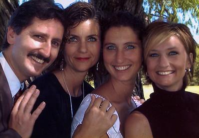 2003 - L-R: Chris, Kim, Georgia, Faith at Destin Luedi's dedication, Ft. Worth, TX.