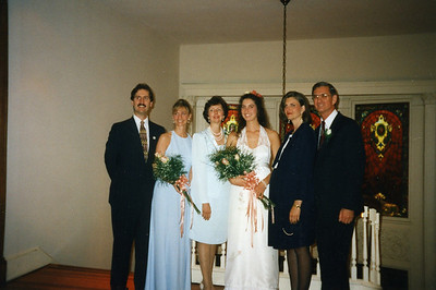 1997 - Georgia Fuller and Manfred Luedi's civil wedding at Council House in Americus, GA L-R: Chris, Faith, Linda, Georgia, Kim, and Millard.