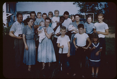 1952 Koinonia families (Florence holding infant (probably Lenny)
