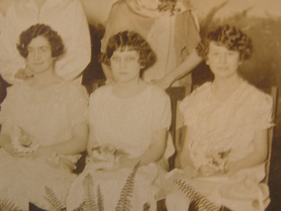 1920 - Florence Jordan high school graduation - middle.