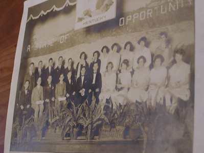 1920 - Florence Jordan's high school graduation - front row, second from right.