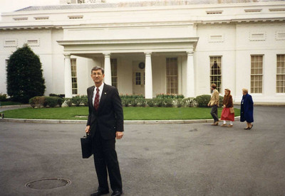 1989 - Millard and Linda at White House meeting with President Bush, Sr. regarding the start of Points of Light.