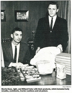 1962 Millard Fuller and Morris Dees, business partners display products