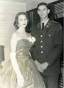 Spring 1959 - Linda was Millard's date for ROTC Ball at the University of Albama. lf