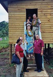 2001 - Millard visit Habitat home in Fiji.