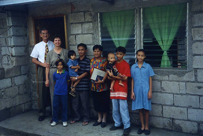 1998 - Millard and Linda spend the night with a Habitat family in Philippines.