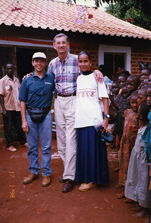 1998 Millard and Linda in Uganda to dedicate the 20,000th house built in Africa