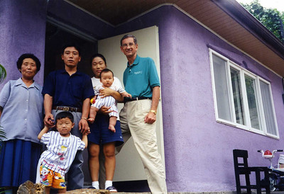 1998 Linda and Millard visiting Habitat homes in South Korea