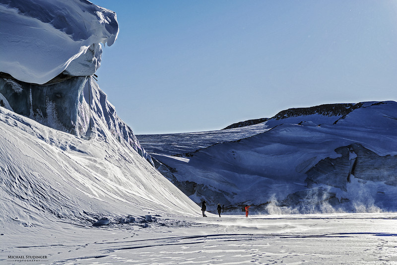 Ice wall of the Store Landgletscher, also known as Great Land Glacier, near Camp Tuto at Thule, Greenland.