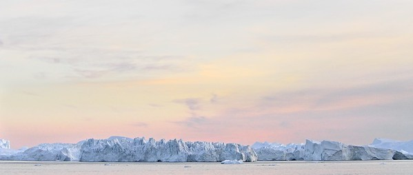 Glacier Panorama in Ilulissat, Greenland