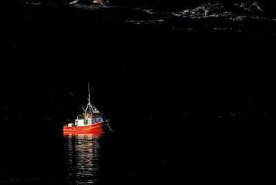 A fishing boat near Sisimiut, Greenland