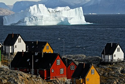 Colorful houses in Uummannaq, Greenland