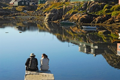 A harbor in Sisimiut, Greenland