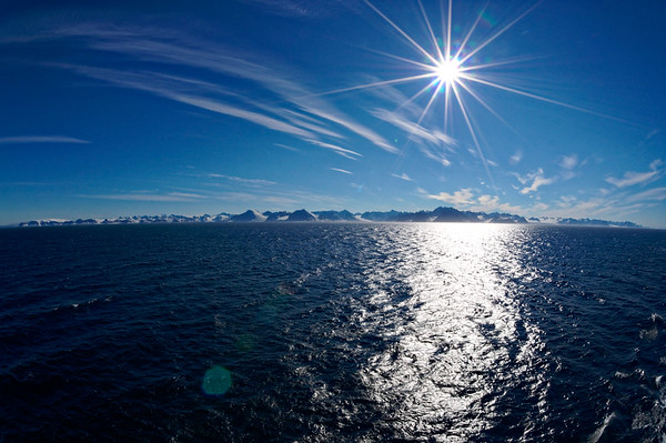 Svalbard in the sunshine.