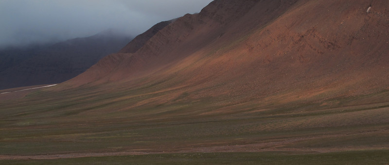 Landscape from the Arctic Svalbard.