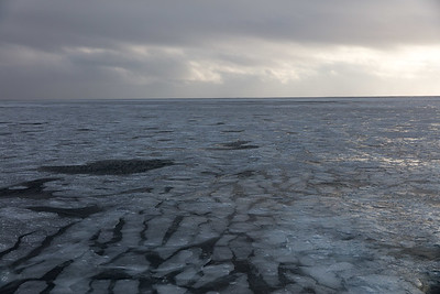 Endless views of ice stretching to the horizon