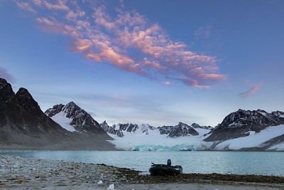 Glaciers, sharp jagged mountains and beautiful beaches and sunsets