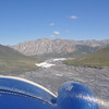 View from cockpit on flight from Arctic Village to the Marsh Fork, the start point of our river journey in the Alaskan Wildlife National Refuge (ANWR).