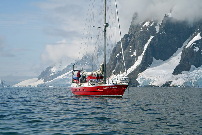 Sailing in Antarctica