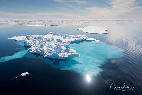 Arctic ice, not far off 80 degrees North, evertything seemed so impossibly blue and beautiful