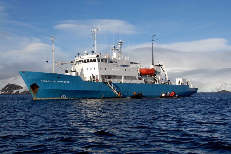 03b-Professor Molchanov, anchored in Antarctic waters