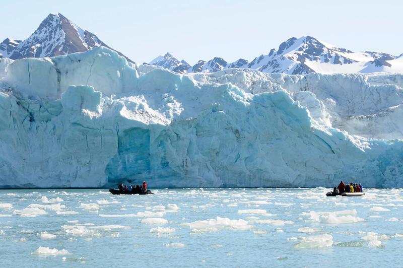 Massive glacier face