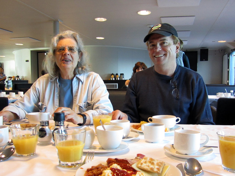 Lois and John begin the day with OJ and breakfast