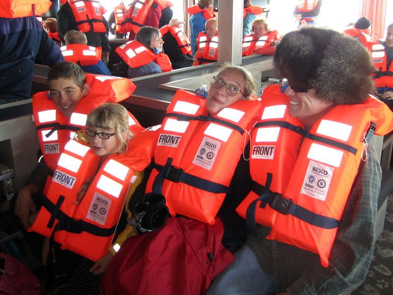 Evan, Taleah, Rebekah & John, attending emergency rescue drills