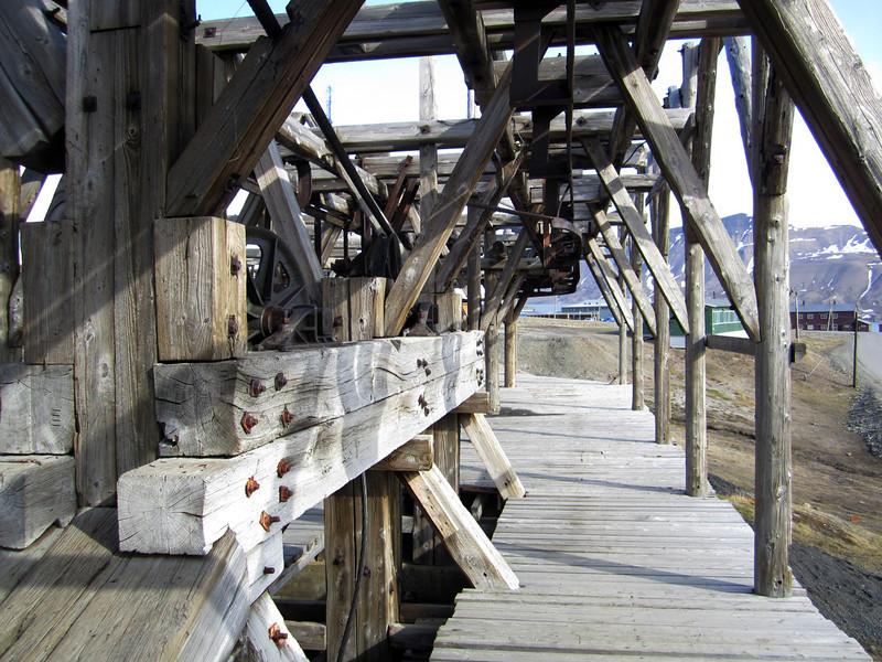 Defunct ski-lift timbers