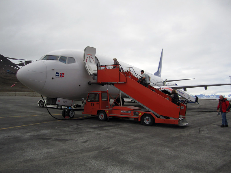 Departure from Longyearbyen airport.