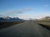 Road from airport toward Longyearbyen.