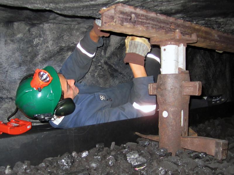 Evan works in the mine<br /> Svalbard Museum