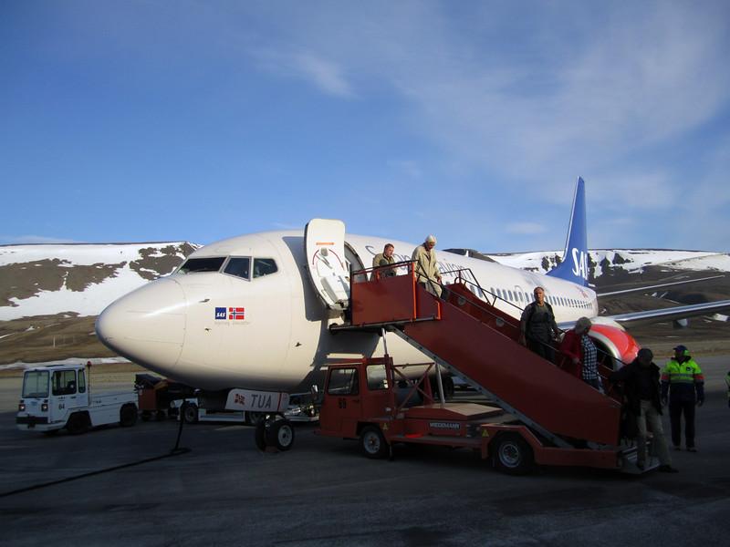 Landing at Longyearbyen Airport, Svalbard.
