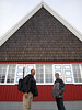 Jeff and Evan in front of Longyearbyen Lutheran Church