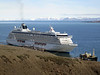 Cruise ship calling on Longyearbyen port<br /> Isfjorden<br /> Longyearbyen, Svalbard