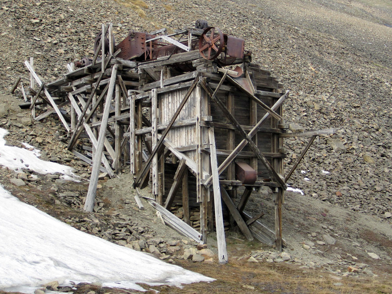 Defunct mining equipment