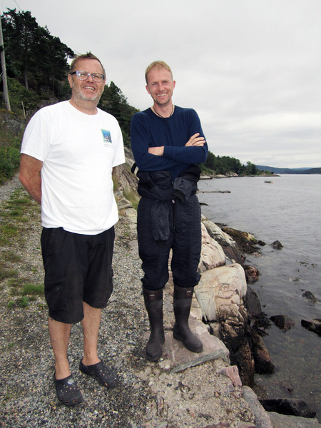 Dive buddies, Vidar Aas & Jarle Strømodden, at Somdre Spro dive site.