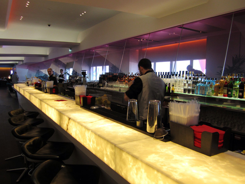 Virgin Atlantic, flagship VIP lounge full bar.